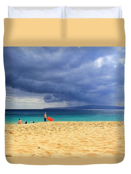 Hawaiian Afternoon Duvet Cover by Kathy Bassett