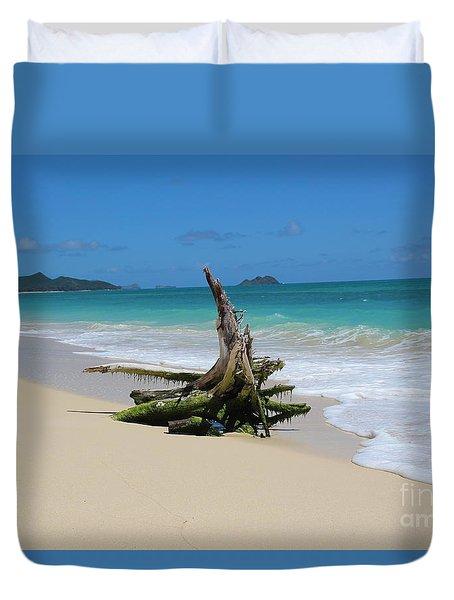 Hawaiian Beach Duvet Cover by Anthony Jones