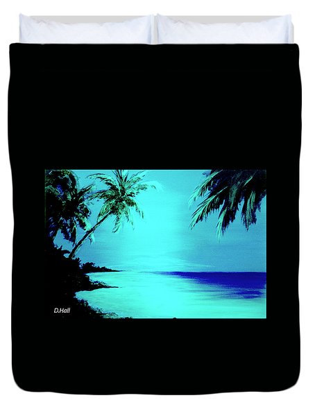Hawaiian Beach Art Painting #188 Duvet Cover by Donald k Hall