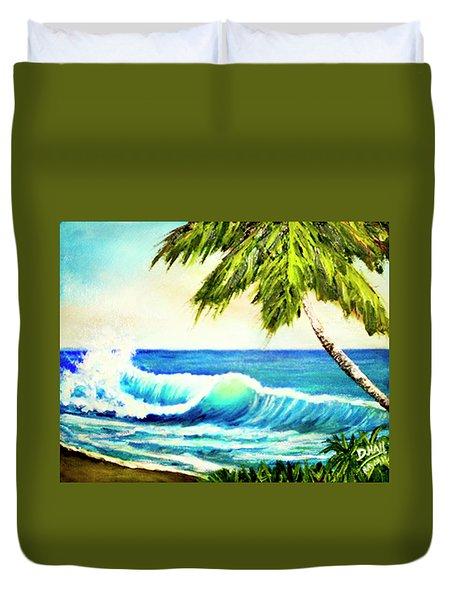 Hawaiian Beach Wave #420 Duvet Cover by Donald k Hall