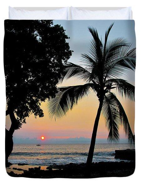 Hawaiian Big Island Sunset  Kailua Kona  Big Island  Hawaii Duvet Cover