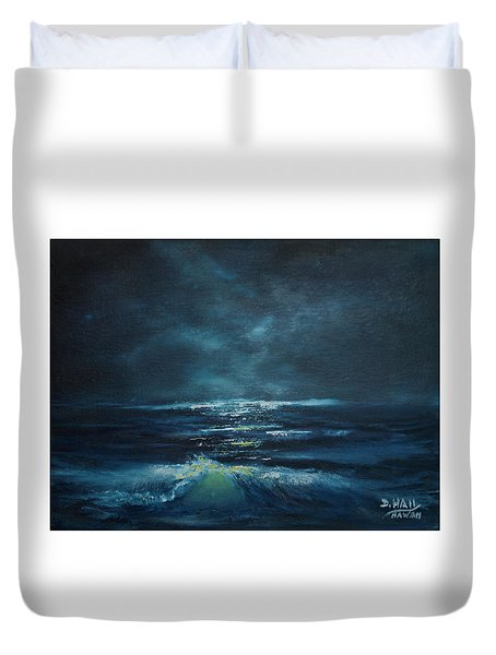 Hawaiian Enchanted Sea #431 Duvet Cover by Donald k Hall
