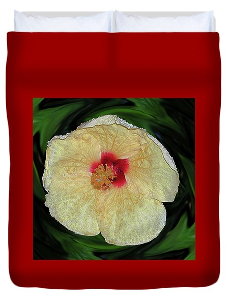 Hawaiian Hybiscus Duvet Cover