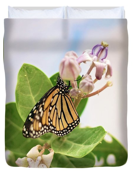 Duvet Cover featuring the photograph Hawaiian Monarch by Heather Applegate