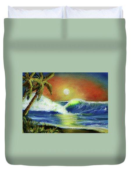 Hawaiian Moon #399 Duvet Cover by Donald k Hall