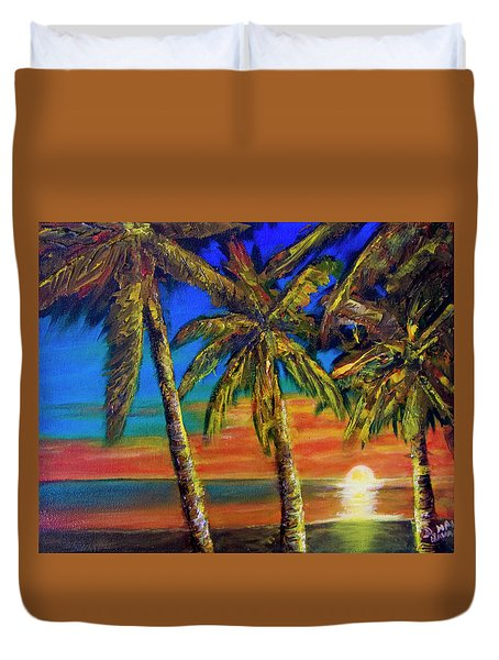 Hawaiian Moon #404 Duvet Cover by Donald k Hall