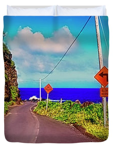 Hawaiian Mountian Road  Duvet Cover