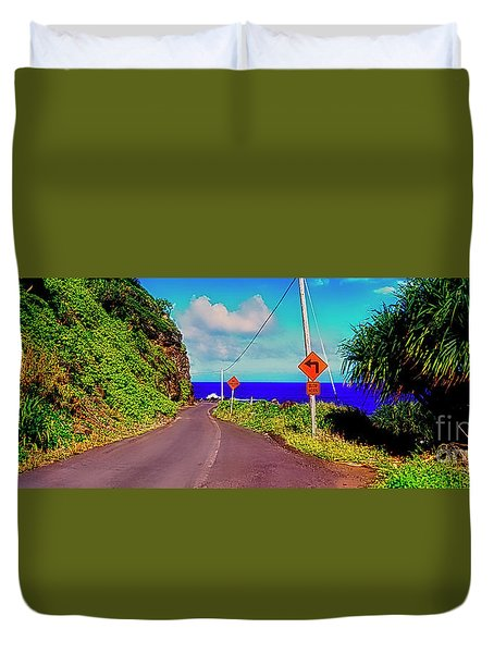 Hawaiian Mountian Road  Duvet Cover