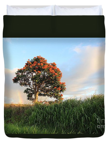 Somewhere Over The Rainbow Duvet Cover by Anthony Jones