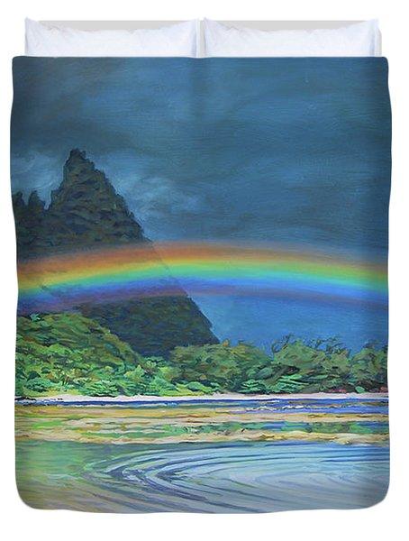 Hawaiian Rainbow Duvet Cover