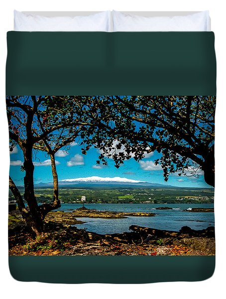 Hawaiian Snow Duvet Cover