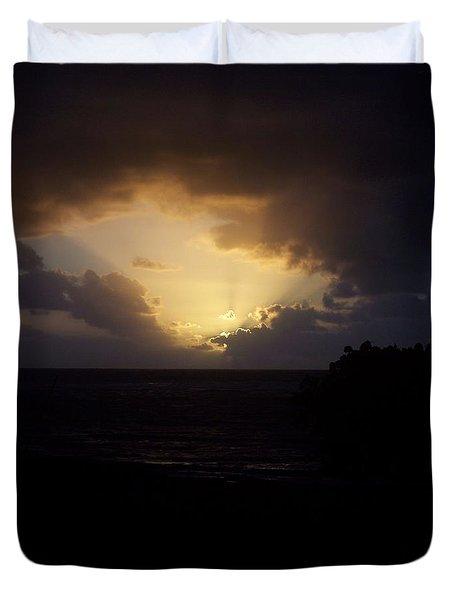 Hawaiian Sunrise Duvet Cover