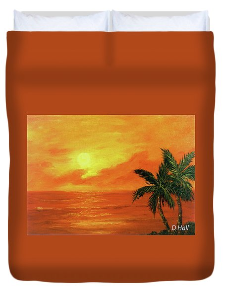 Hawaiian Sunset #27 Duvet Cover by Donald k Hall