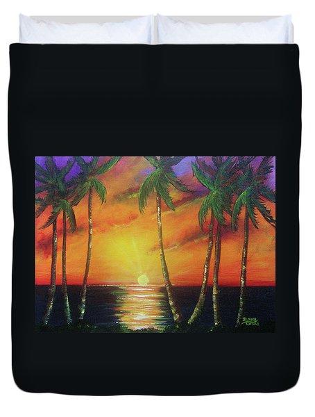 Hawaiian Sunset  #329 Duvet Cover by Donald k Hall