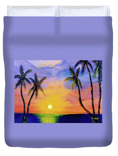 Hawaiian Sunset #36 Duvet Cover by Donald k Hall