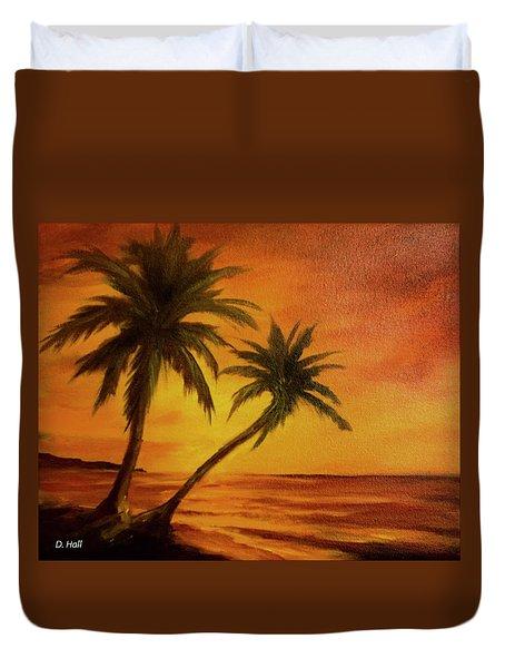 Hawaiian Sunset #380 Duvet Cover by Donald k Hall