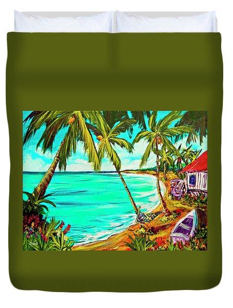 Hawaiian Tropical Beach #355 Duvet Cover by Donald k Hall