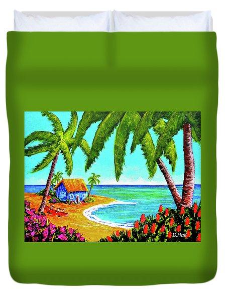 Hawaiian Tropical Beach  #364 Duvet Cover by Donald k Hall