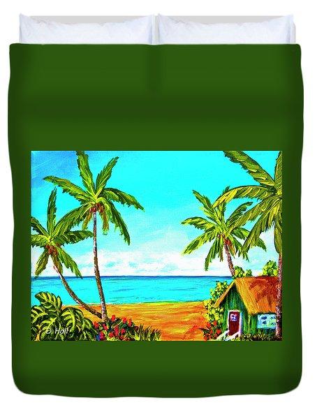 Hawaiian Tropical Beach #366  Duvet Cover by Donald k Hall