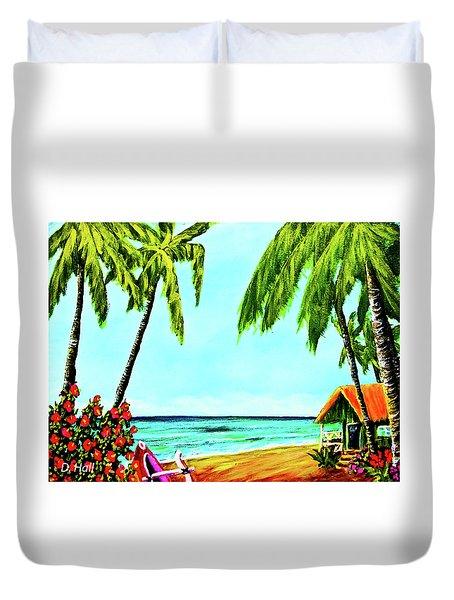 Hawaiian Tropical Beach #367  Duvet Cover by Donald k Hall