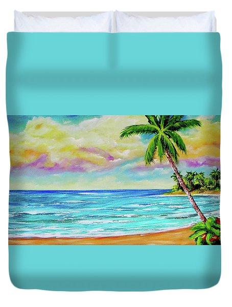 Hawaiian Tropical Beach #408 Duvet Cover by Donald k Hall