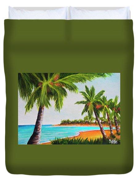 Hawaiian Tropical Beach #429 Duvet Cover by Donald k Hall