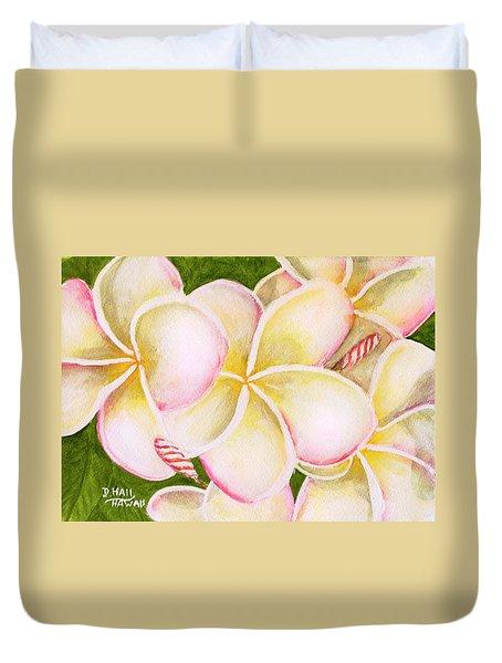 Hawaiian Tropical Plumeria Flower #483 Duvet Cover by Donald k Hall