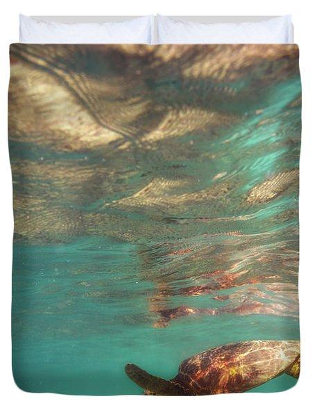 Hawaiian Turtle Duvet Cover