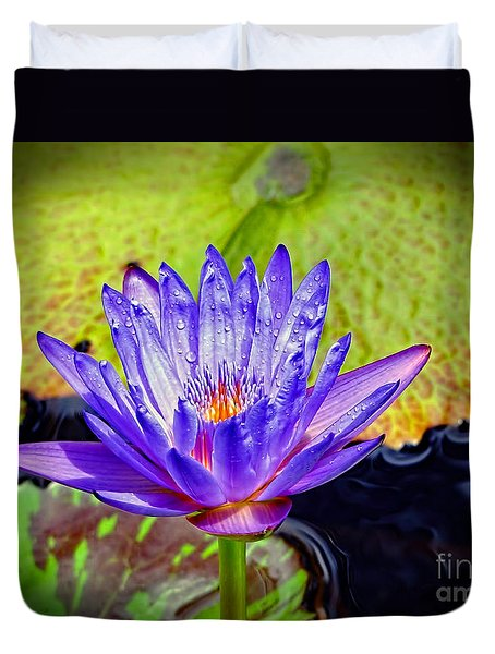 Hawaiian Water Lily Duvet Cover