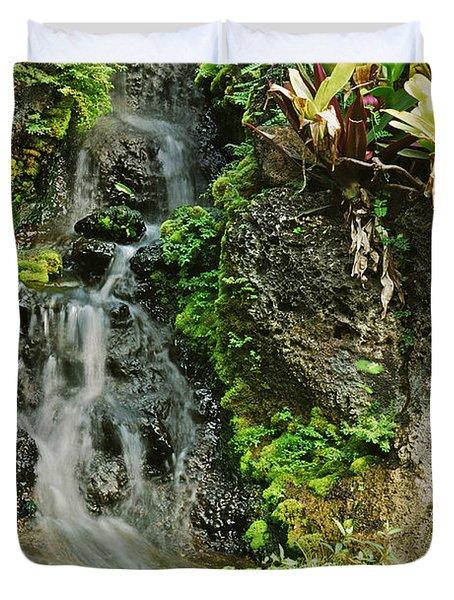 Hawaiian Waterfall Duvet Cover