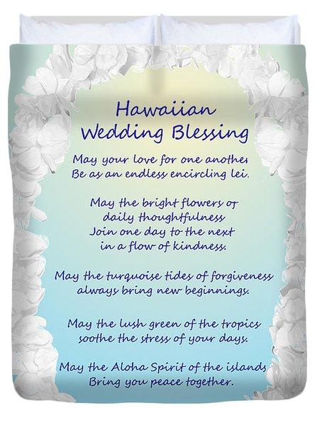 Hawaiian Wedding Blessing Duvet Cover
