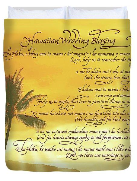 Hawaiian Wedding Blessing-sunset Duvet Cover