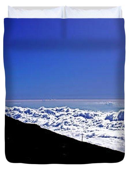 Hawain Islands Maui Haleakala Natl Park Crater Puu Ulaula Telesc Duvet Cover