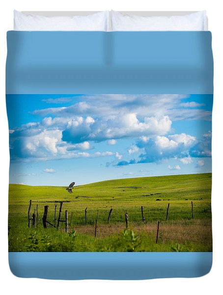 Hawk And Flint Hills Duvet Cover