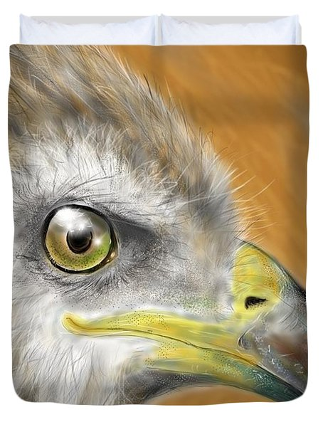 Hawk Duvet Cover by Darren Cannell