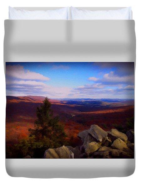 Hawk Mountain Pennsylvania Duvet Cover by David Dehner
