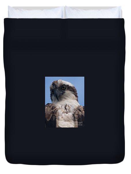 Hawk Profile Duvet Cover