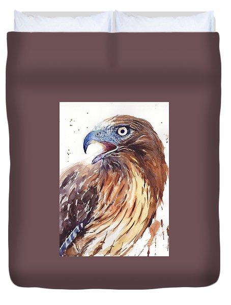 Hawk Watercolor Duvet Cover