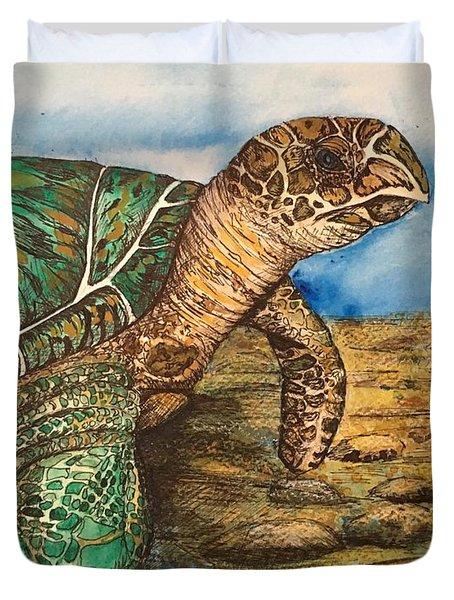 Hawkbilled Sea Turtle Duvet Cover