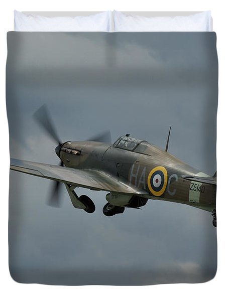 Hawker Hurricane Mk Xii  Duvet Cover by Tim Beach