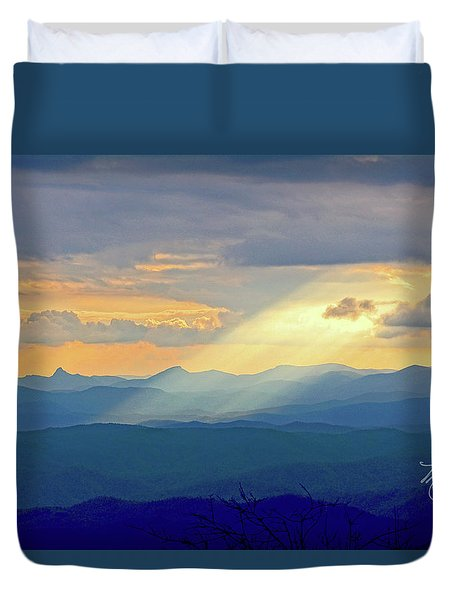 Hawks Bill Mountain Sunset Duvet Cover
