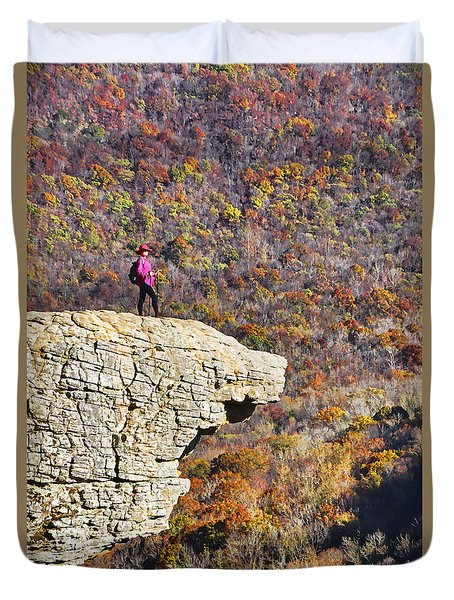 Hawksbill Crag In Autumn Duvet Cover by Dennis Cox WorldViews