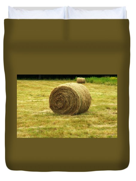 Duvet Cover featuring the photograph Hay Bale  by Bruce Carpenter