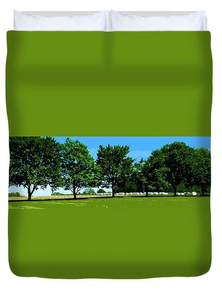 Hay Harvest Duvet Cover