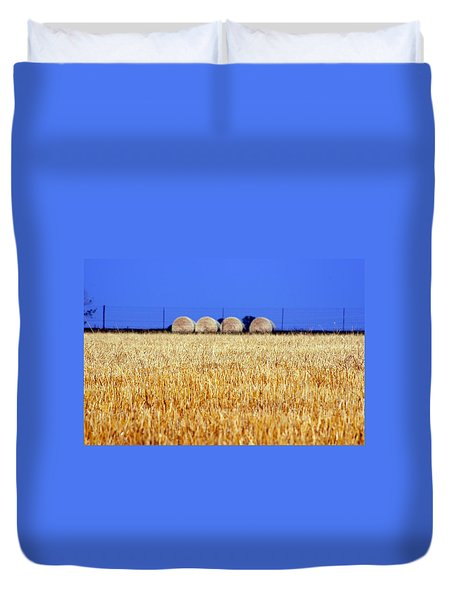 Hay Hay Duvet Cover by Debi Demetrion