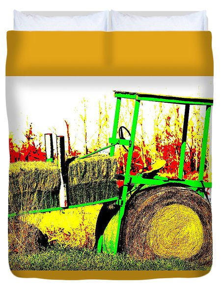 Hay It's A Tractor Duvet Cover