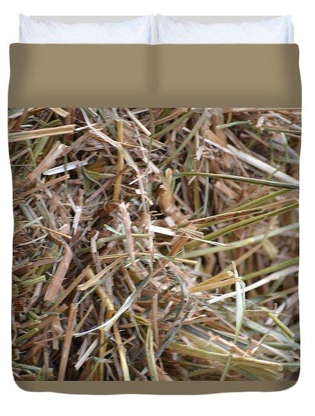 Hay Duvet Cover by Linda Geiger