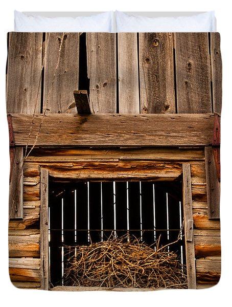 Hay Loft Door Duvet Cover