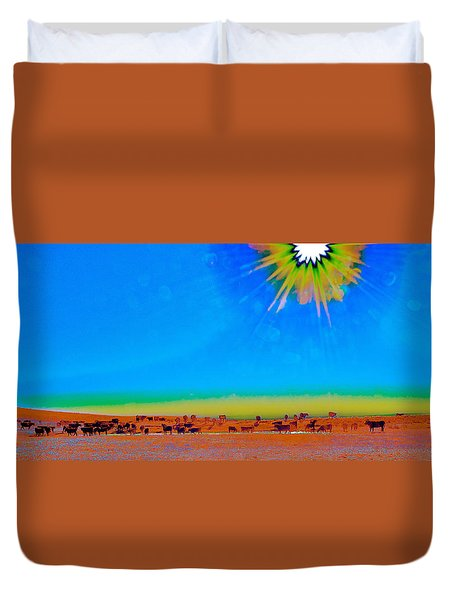 Hay Meadow To Water Duvet Cover