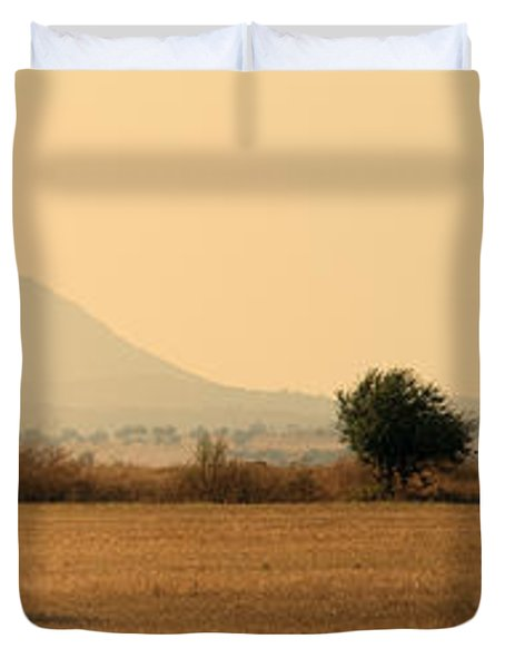 Hay Rolls  Duvet Cover by Stylianos Kleanthous